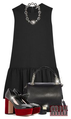 """Miu Miu"" by rasa-j ❤ liked on Polyvore featuring Miu Miu, miumiu, womenfashion and summer2016"