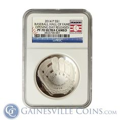 The first coin produced by the US Mint that has a curved surface. Concave on the glove side, and convex on the side that has the baseball. Pretty cool and creative on the part of the mint! America's Favorite Pastime, One Coin, Silver Bullion, Opening Day, Concave, Gold Coins, Pretty Cool, Precious Metals, Glove