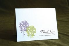 Hydrangea Personalized Thank You Notecards w/Envelopes. Set of 12. on Etsy, $22.00
