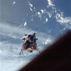 Remembering Apollo 9 - Astronauts McDivitt and Schweickart take LM-3 (Spider) for a solo test flight. This date (March 7) in 1969. www.Retro Space Images.com