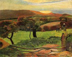 Paul Gauguin - Brenton Landscape, Fields by the Sea, 1889