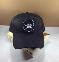 DAD with cute mustache Baseball cap by SundayNeek on Etsy
