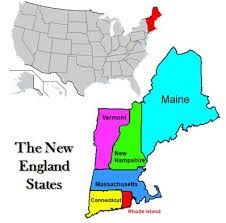 Warnings Out Vacation - Map Us States New England