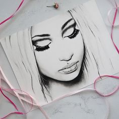 Image result for how to draw nicki minaj arts and crafts just added my original 9 x 12 drawing of nicki minaj to my etsy and prints voltagebd Image collections