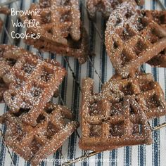 TweetBrownie Waffle Cookies-The rich taste of a brownie made with your waffle iron! I have a confession. I never use my waffle iron. I've had it for 2 years and I think I've used it twice. When you have 3 teenage kids, all hungrily waiting at the table for food. Making one waffle at a …