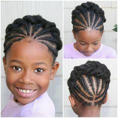 Idées de coiffure pour petite fille : tresses afro avant et arrière