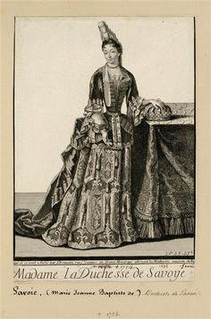 """Marie-Jeanne-Baptiste de Savoie """" Mademoiselle de Nemours"""", duchesse de Savoie, Trouvain Antoine  - Versailles, châteaux de Versailles et de Trianon"""