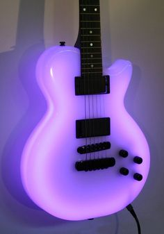Neon Purple Les Paul Guitar