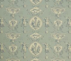 """a-l-ancien-regime:  """" Toile de Jouy : Intricate, highly detailed design, originally designed by Jean Baptiste Huet at the turn of 19th century and featuring Aphrodite and Artemis.  """""""