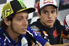 Rossi würdigte Marquez am Donnerstag keines Blickes - Foto: Milagro
