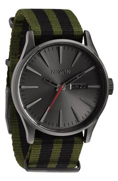 Nixon 'The Sentry' Nylon Strap Watch available at #Nordstrom