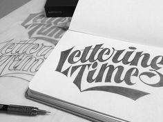 Lettering Time Sketch
