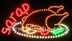 LED sign fried chicken