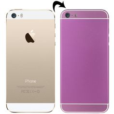 [USD27.34] [EUR24.65] [GBP19.53] Full Assembly Replacement Metal Housing Cover with Appearance Imitation of iPhone 6 & 6S for iPhone 5S, Including Back Cover & Card Tray & Volume Control Key & Power Button & Mute Switch Vibrator Key, White Line(Purple)