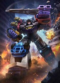 Decepticon Menasor (Stunticons) Artwork From Transformers Legends Game