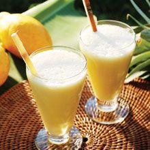 Enjoy a Passion Fruit Smoothie. For a happy hour bonus, add some of your favorite liquor to spice it up!