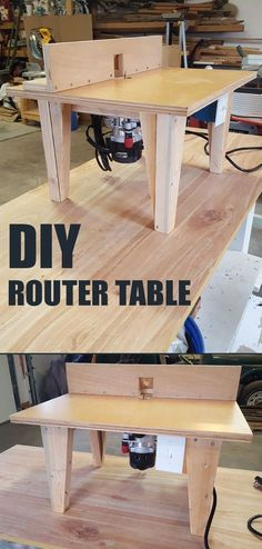 Build your own router table step-by-step. #WoodworkingTools
