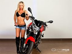 Kimmi and the 2010 Aprilia Shiver - Motorcycle USA