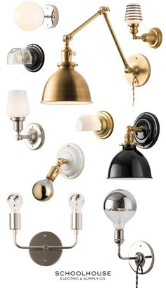 Iconic, modern & vintage-inspired lighting for your home. Purposeful design + thoughtful living by Schoolhouse | Shop Wall Sconces online