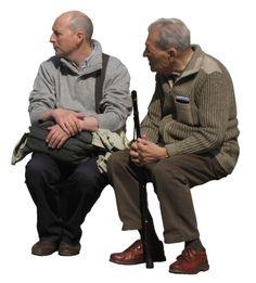 2 Men Sitting