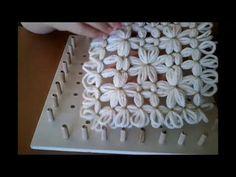 Piastrella con fiori   tutorial 1° Parte - telaio di Maria di Gio