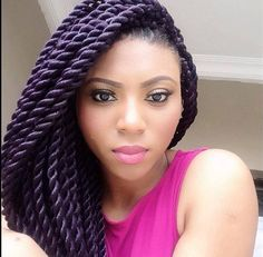Purple Senegalese Twist