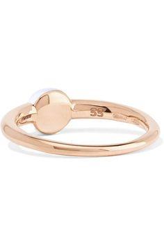 18 Carats En Or Rose, Moonstone Et Bracelet De Diamants - Taille Pomellato