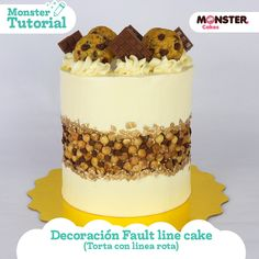 Fault Line Cake - Torta linea rota - Tendencia 2019 Cake Decorating Videos, No Sugar Foods, Natural Sugar, Cake Tutorial, Amazing Cakes, Food Art, Chocolate Cake, Ice Cream, Baking