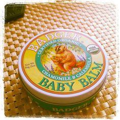 .@19no | 昨日友達にもらった#BADGER #babybalm 微香で良い香りだし、何より缶のデザインが...