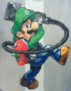 Luigi (Luigi's Mansion) perler beads by phantasm818