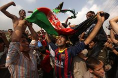 Omar Sobhani/Reuters Afghan football fans celebrate winning the South Asian Football Federation championship.
