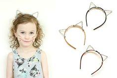 Katzenohren basteln mit Pfeifenreiniger und Haarreifen