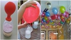 Trick To Inflate Floating Balloons Without Helium Incredible! Do It Now, It's A Great Idea If You Want To Decorate With Balloons! Diy For Kids, Crafts For Kids, Floating Balloons, Ideas Para Fiestas, Childrens Party, Baby Party, Birthday Decorations, Kids And Parenting, Party Time