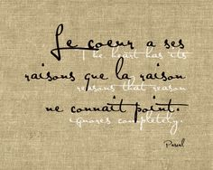 Heart and reason