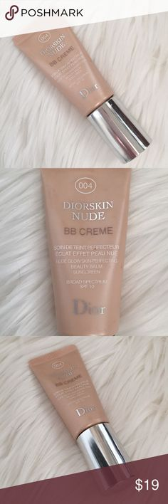 YSL BB Creme 4 Diorskin Nude skin balm spf 10 YSL BB Creme Diorskin Nude skin perfecting beauty balm Shade is 004 - dark beige/brown shade Spf 10 sunscreen size .5 oz - about 75% full Made In France Christian Dior Dior Makeup Foundation