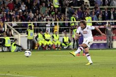 Alessio Cerci of Torino FC misses a penalty during the Serie A match between ACF Fiorentina and Torino FC at Stadio Artemio Franchi on May 1...