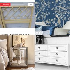 James Mont Chinoiserie Matching Twin Beds