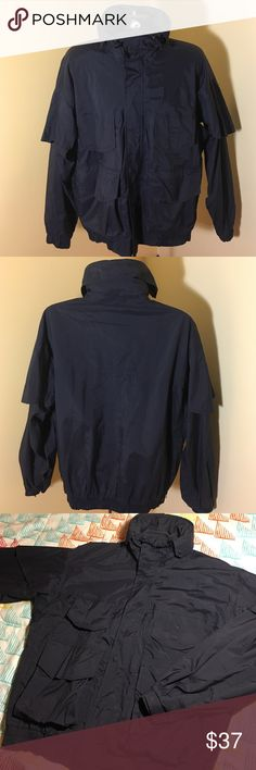 Vintage Columbia Omni Tech Jacket w/ Conceal Hood Size women's large ----Super nice Columbia Sportswear jacket. Has hidden hood that flips under collar. Very breathable yet warm from the omnibtech material. Condition is excellent columbia  Jackets & Coats