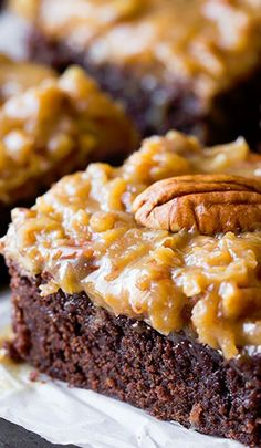 German Chocolate Brownies. Gotta make these for my dad when he comes to visit!