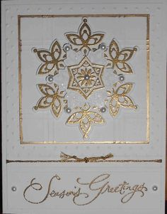 Gold Snowflakes by Iowa Stamper - Cards and Paper Crafts at Splitcoaststampers