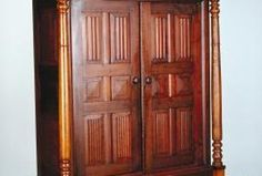 What Wood Finish Was Used in Victorian Homes? Victorian Interiors, Victorian Homes, Victorian Era, Clothing Armoire, Painted Bamboo, Build A Closet, Bamboo Furniture, Visual Texture, Cabinet Makers