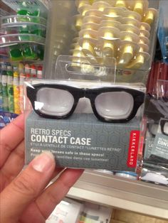 For your contact lenses. What does your contact lens case look like?