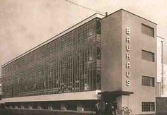Walter Gropius, Dessau Bauhaus, View from the Southwest (built Walter Gropius, Design Bauhaus, Bauhaus Art, Bauhaus Architecture, Interior Architecture, Classical Architecture, Interior Design, Bauhaus Building, Design Movements