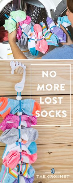 No sock left behind. This organizer keeps socks paired up—from the washer to the dryer to your closet. No more lost socks. Great for small baby socks, too.