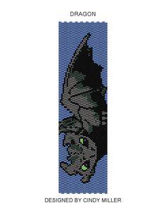 Dragon Peyote Bracelet Pattern Buy 2 by JewelryPatternsPlus