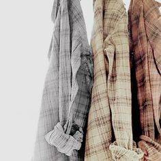 Tabby would have two flannels that were actually hers, the other one would be henry's and then she would have a shirt of his.