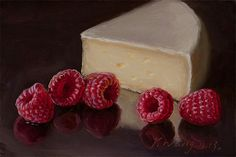 Raspberries With Cheese Painting