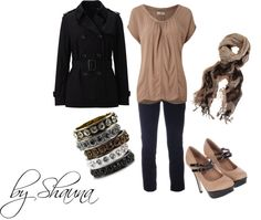 """""""Black and tan"""" by shauna-rogers on Polyvore"""