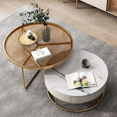 luxury round coffee table set Round Coffee Table Sets, Modern Glass Coffee Table, Buy Coffee Table, Stone Coffee Table, Coffee Table Design, Nesting Coffee Table, Centre Table Living Room, Center Table, Drawing Room