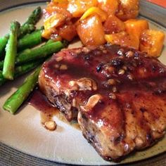 Pork Chops with Apple Cider Glaze Allrecipes.com Tips -Can sub apple ...
